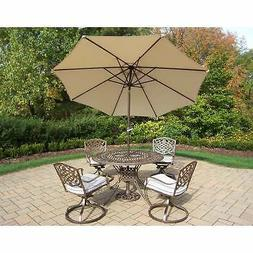 dakota beige antique bronze 7 piece umbrella