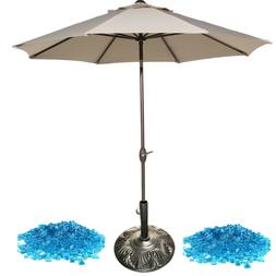 Delux patio furniture accessories 3pc 9ft umbrella 30lbs fir