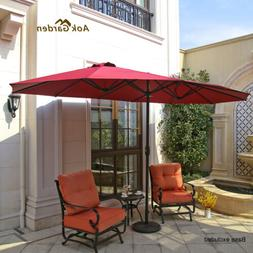 Extra Large 15x9FT Garden Double Parasol Outdoor Lawn Patio