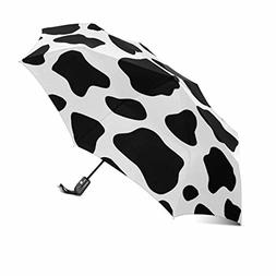 InterestPrint Funny Cattle Cow Prints Black and White Doodle