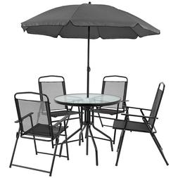 Flash Furniture Nantucket 6 Piece Patio Garden Set with Tabl