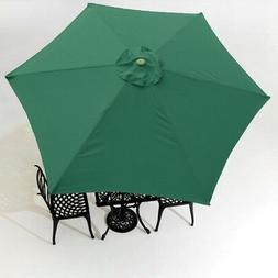 9FT Green Patio Umbrella Replacement Canopy 6 Rib Outdoor Ma