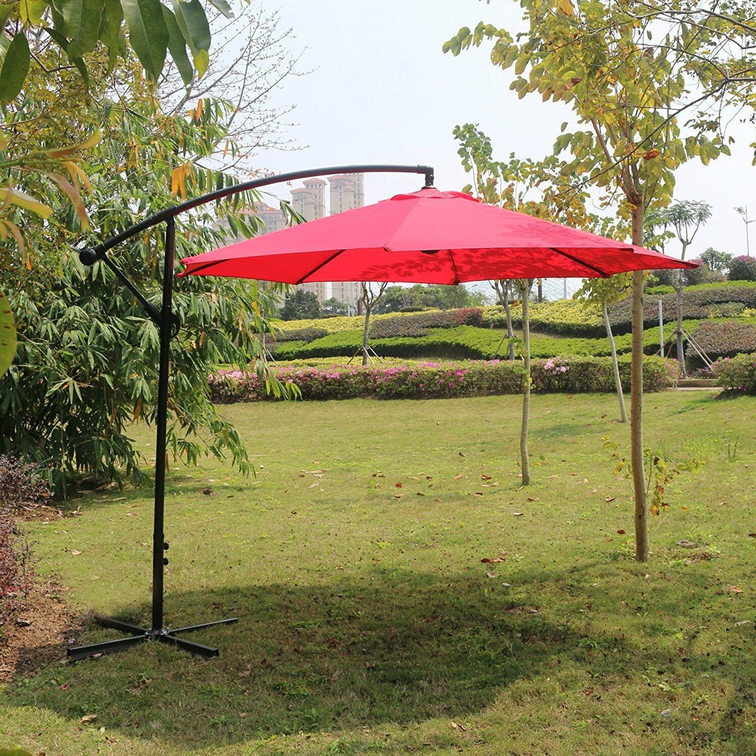 Sunnyglade Adjustable Offset Cantilever Patio 8 Ribs