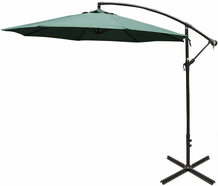 10 feet aluminum offset patio umbrella
