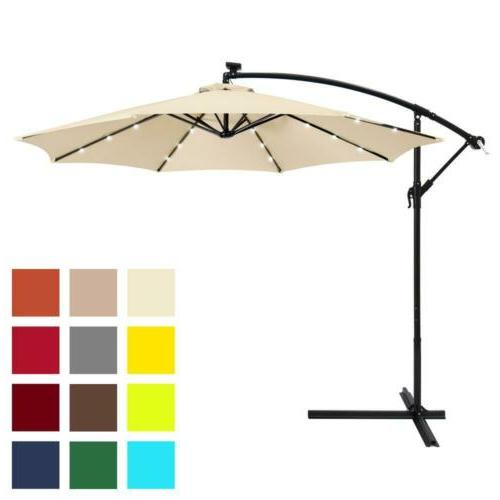 BCP Patio Offset Umbrella Hand Tilt