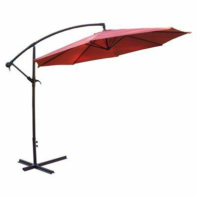 10 ft cantilever umbrella with cast polyresin