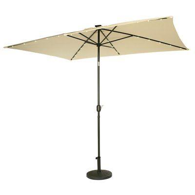 10 ft steel patio umbrella with led