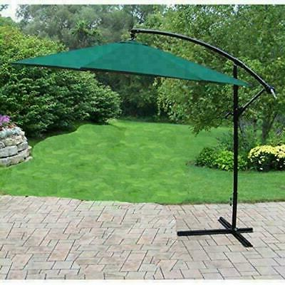 10 green cantilever outdoor umbrella with stand