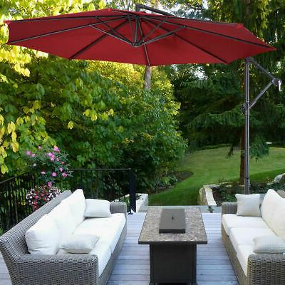 10' Hanging Sun Shade Outdoor Market W/Cross