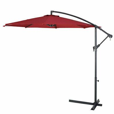 10' Patio Sun Shade Market Burgundy