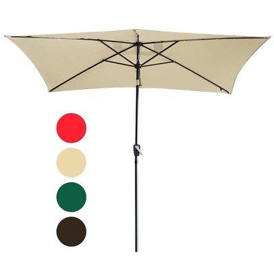 10'x6.5' Patio Umbrella Crank Tilt Sun
