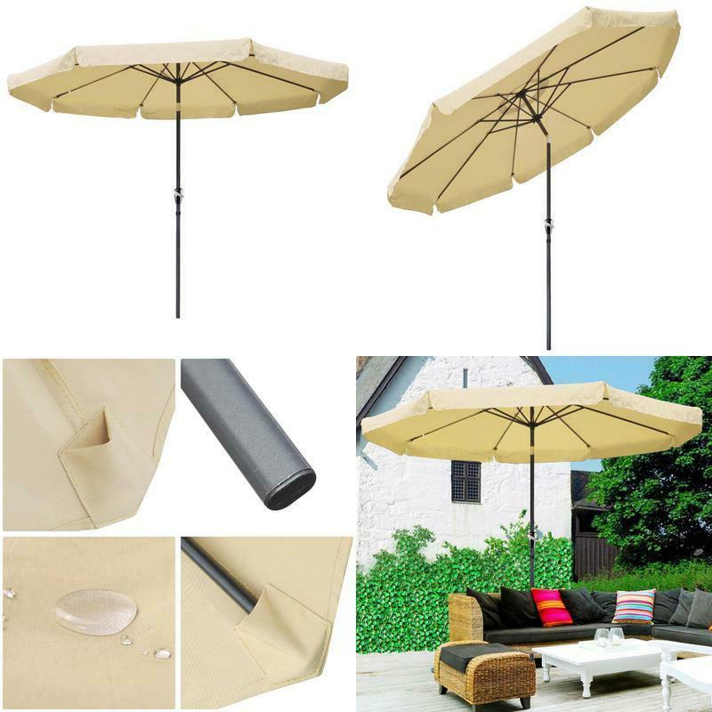 10ft aluminum outdoor patio umbrella w crank