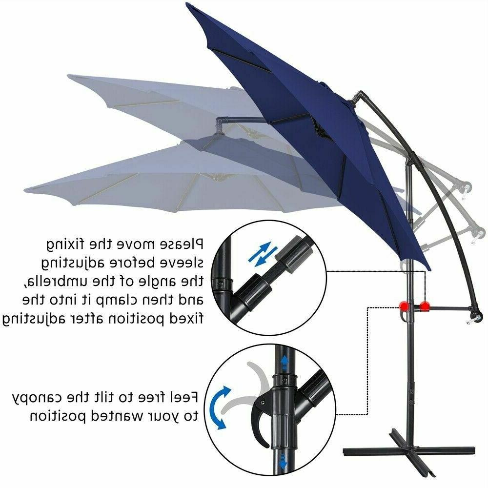 Sunnyglade 10Ft Cantilever Patio Umbrella and and