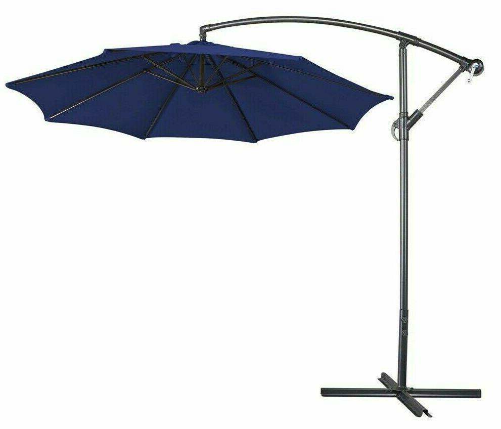 10ft cantilever patio umbrella and weighted base