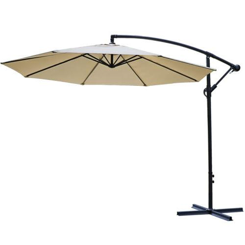 10ft cantilever patio umbrella hanging market outdoor