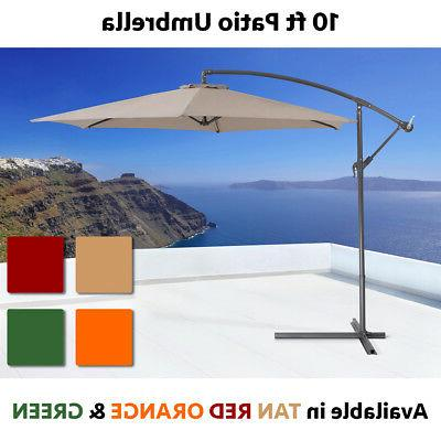 10ft hanging patio umbrella sun shade offset