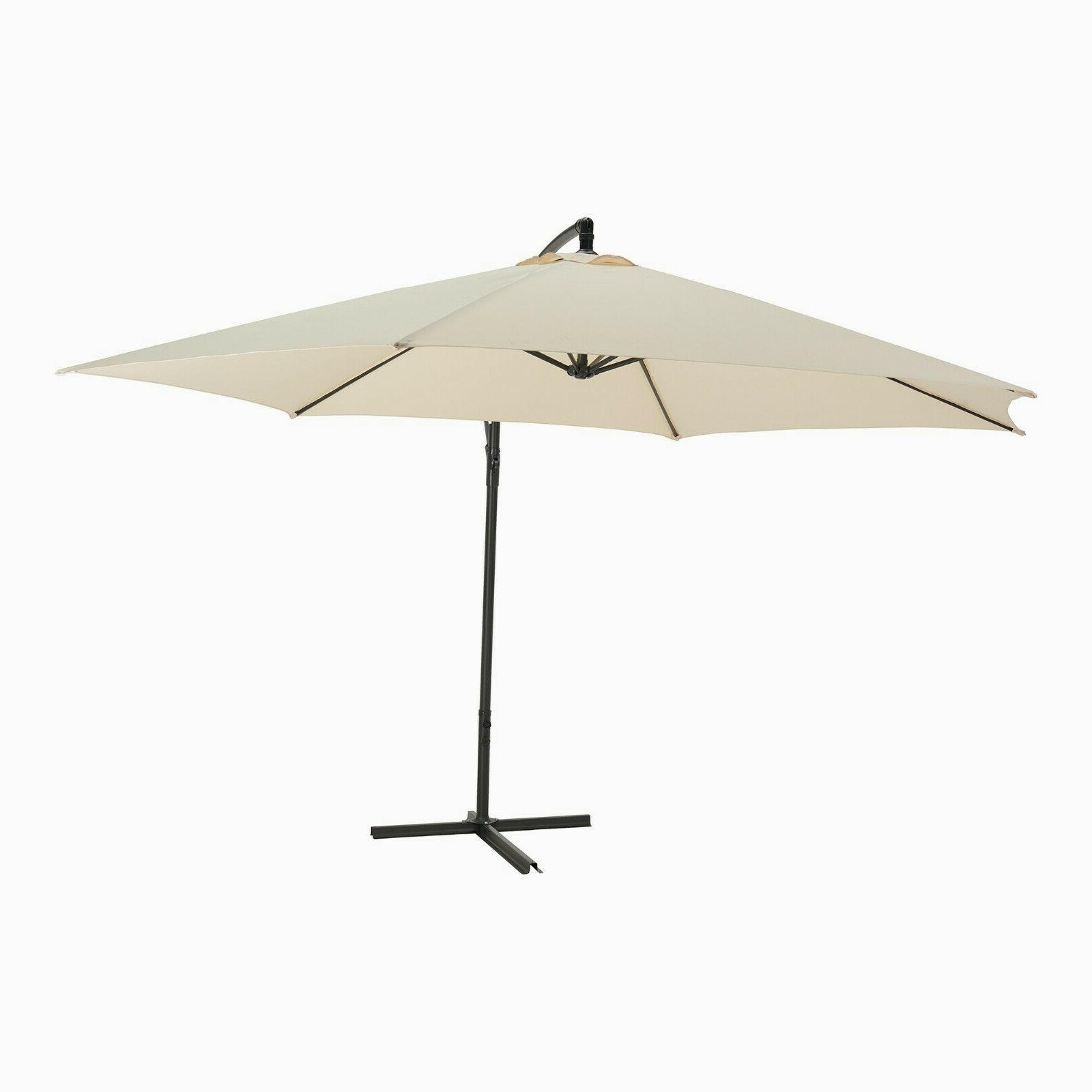 12ft Outdoor Patio Cantilever Umbrella Off Set Hanging Canopy Deck