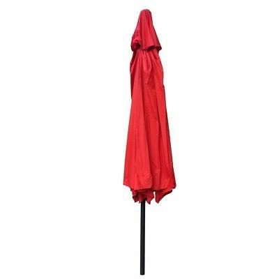 13 FT Outdoor Sun Red Canopy Cover