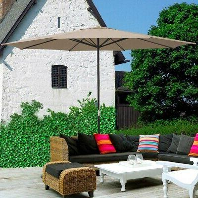 13' Patio Umbrella UV30+ Outdoor Deck