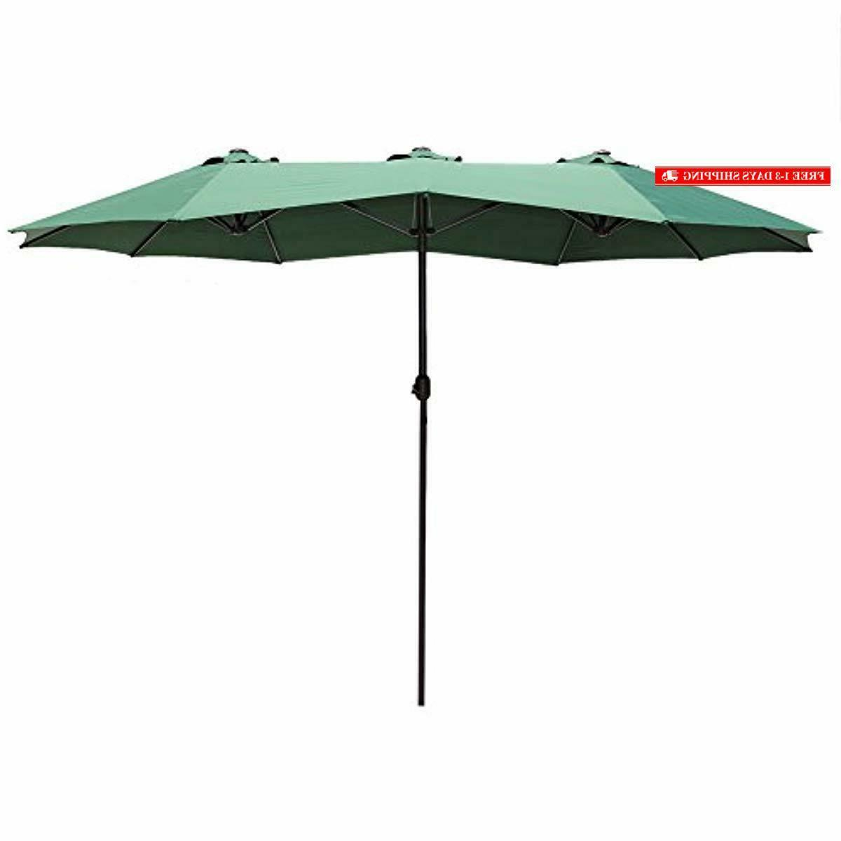14 ft market outdoor umbrella double sided