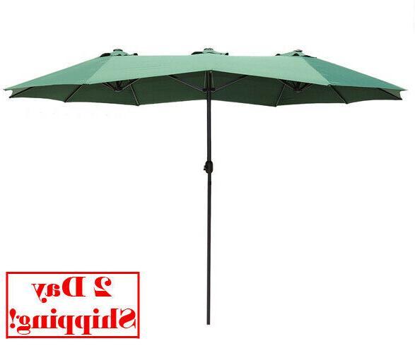 14ft market outdoor patio umbrella double sided