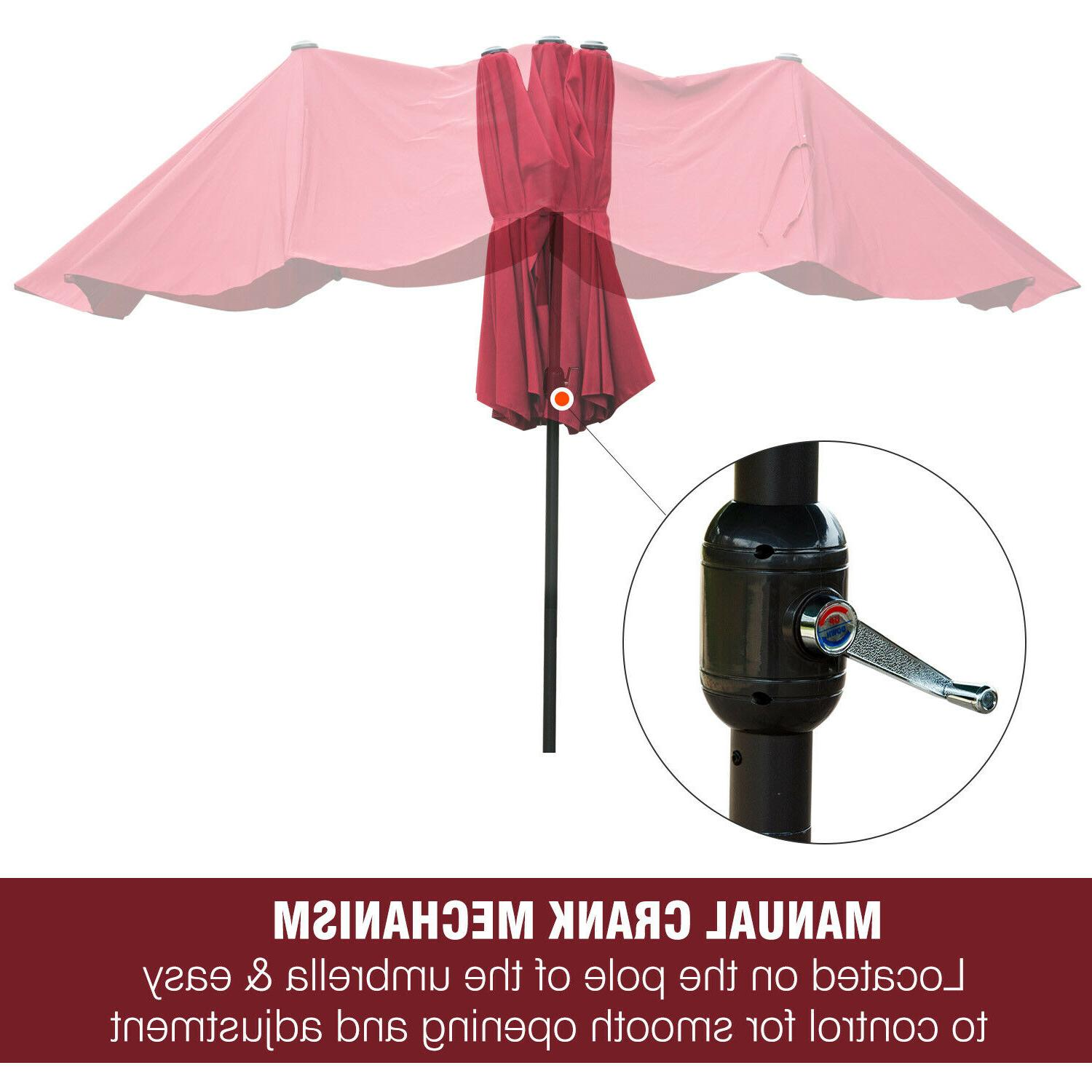15' Double-Sided Twin Sun Shade