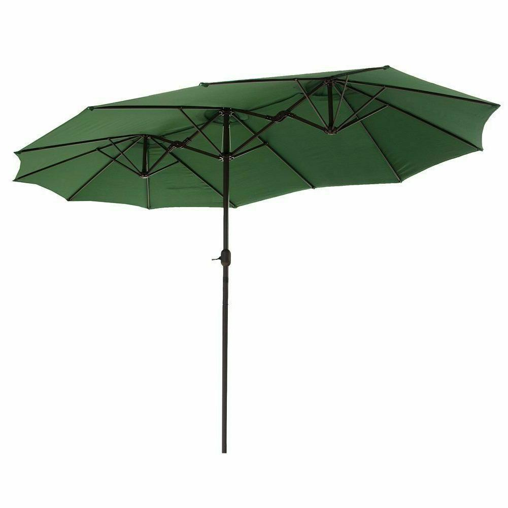 15 ft market outdoor umbrella double sided