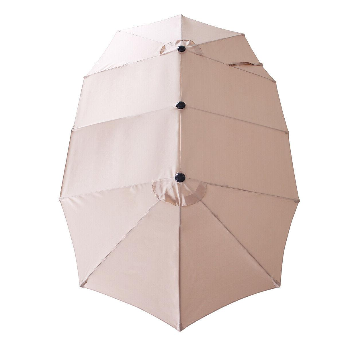 15Ft Size Umbrella Yard Market Sunshade Outdoor