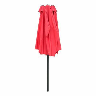 15ft Patio Twin Double-sided Market Garden Parasol Shade