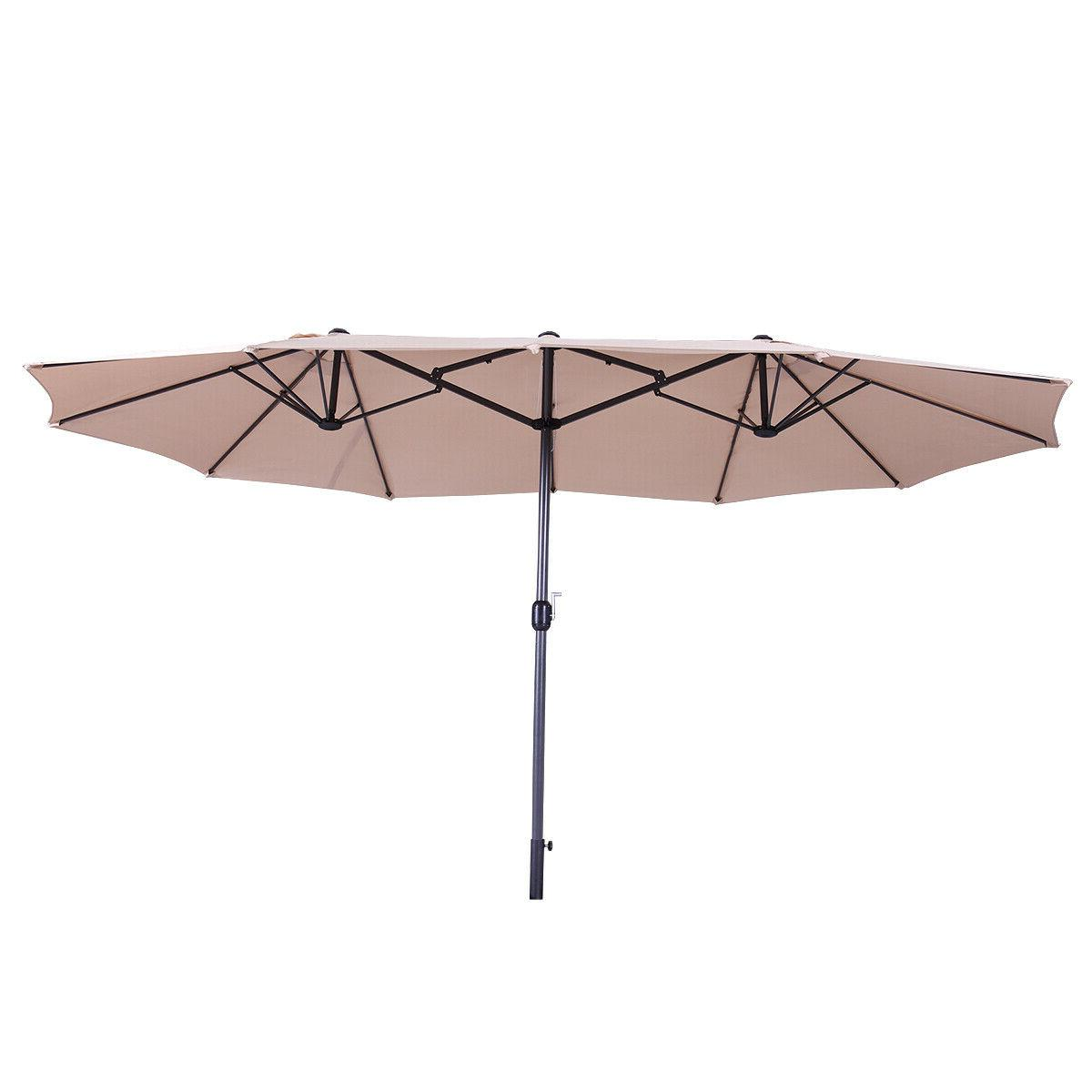 15Ft Large Umbrella Sunshade With Crank