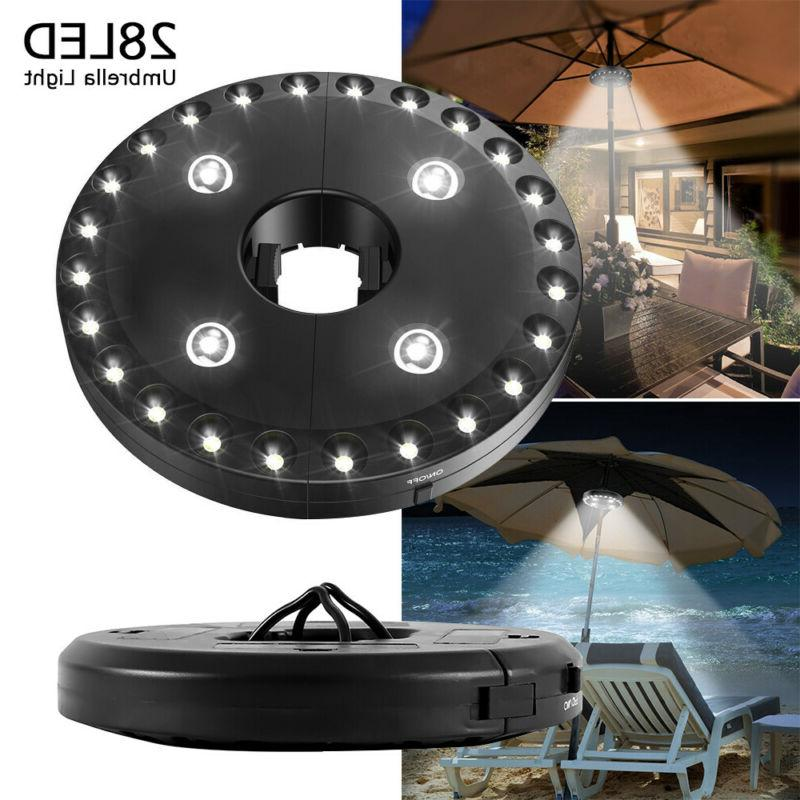 28 LED Patio Umbrella Brightness Mode Camping Light