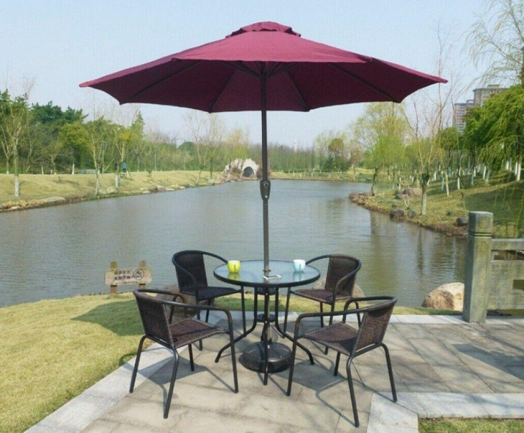 38CM 15'' ROUND PARASOL BASE STAND OUTDOOR US