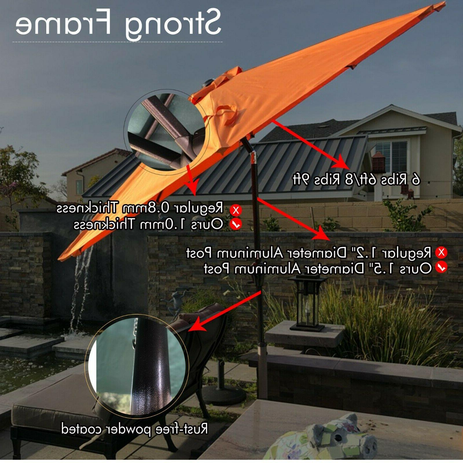 100% Solution-dyed Polyester Table Patio Umbrella