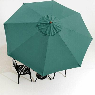9' Patio Umbrella Cover Top 8 Rib Outdoor Canopy Market Yard