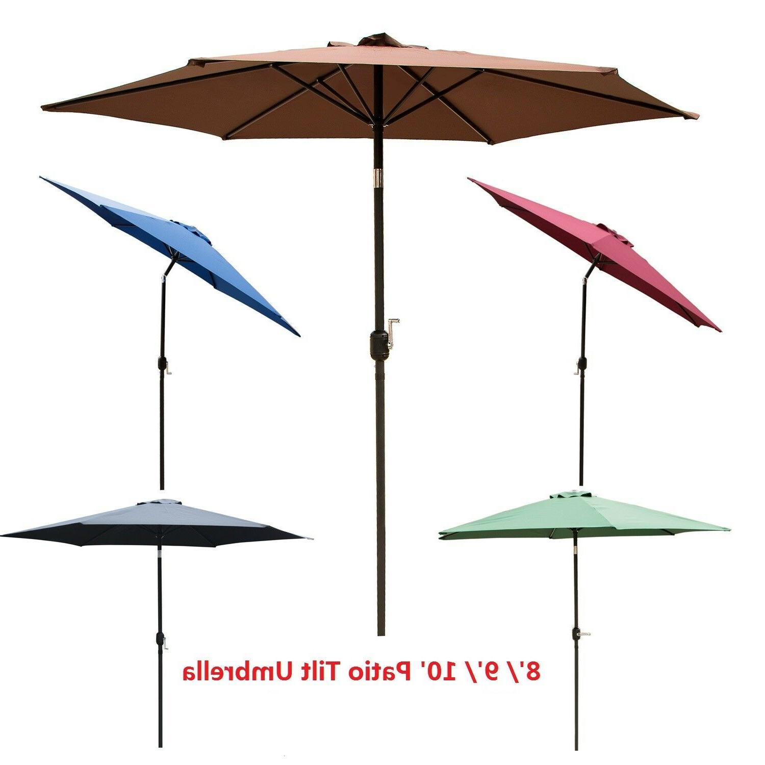 8 9 10 ft patio umbrella tilt