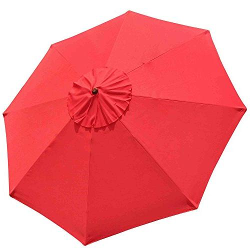 9' Ribs Umbrella Canopy Replacement Cover Outdoor Beach Yard