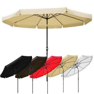 Outdoor Umbrella Aluminum 8ft 9ft 10ft Common LED Garden
