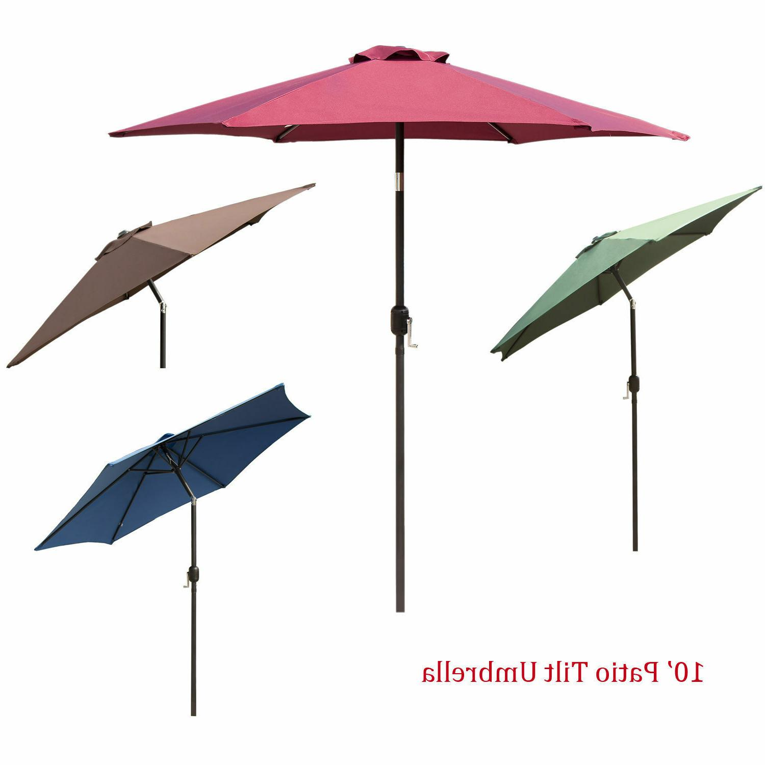 8Ft 9Ft Outdoor Patio Umbrella Tilt