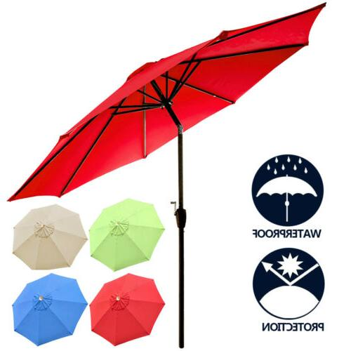 8ft 9ft 10ft patio table umbrella outdoor