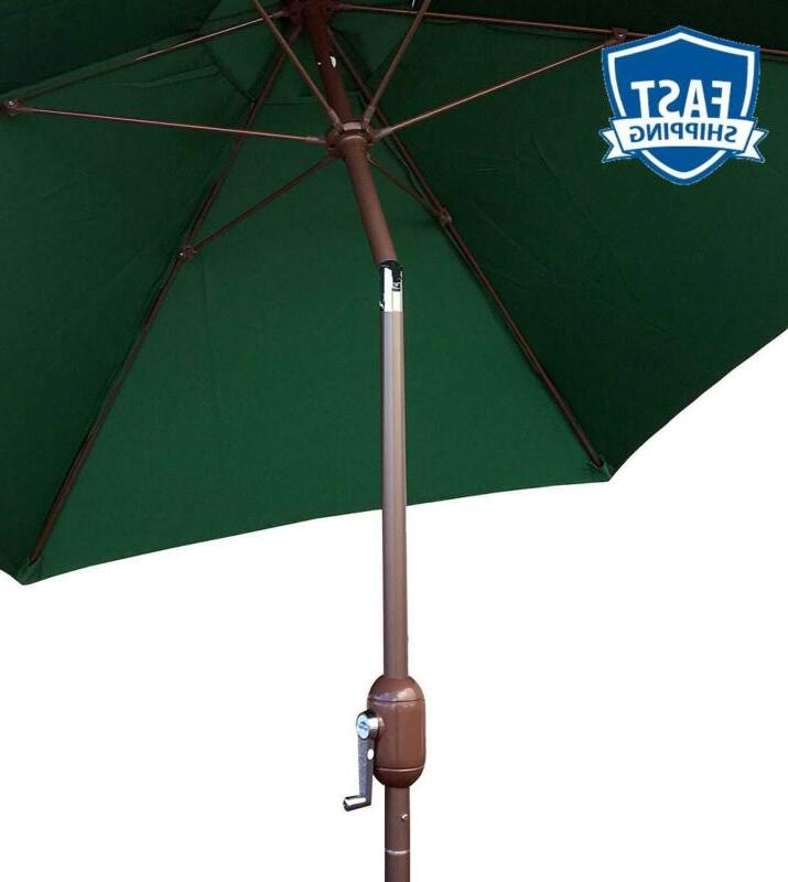 Tropishade 9-Feet Aluminum Polyester Umbrella With Green Polyester