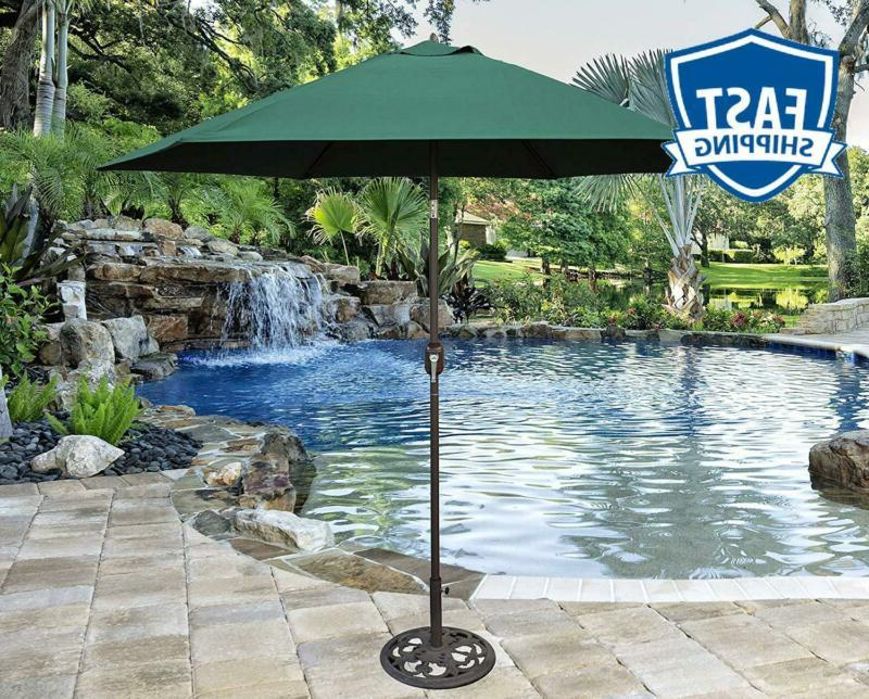 Tropishade 9-Feet Bronze Polyester Market With Green