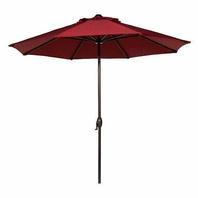 Abba Patio Auto Tilt Aluminum Patio Umbrella with