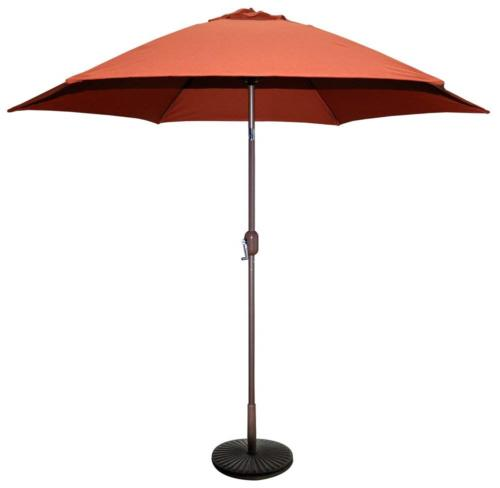 Tropishade 9 ft Bronze Aluminum Patio Umbrella with Rust Pol
