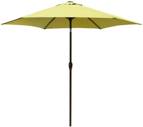 Le Papillon 9 ft Outdoor Patio Umbrella Aluminum Table Marke