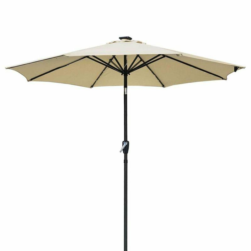 Yescom Outdoor Powered Umbrella 8 Ribs For Patio