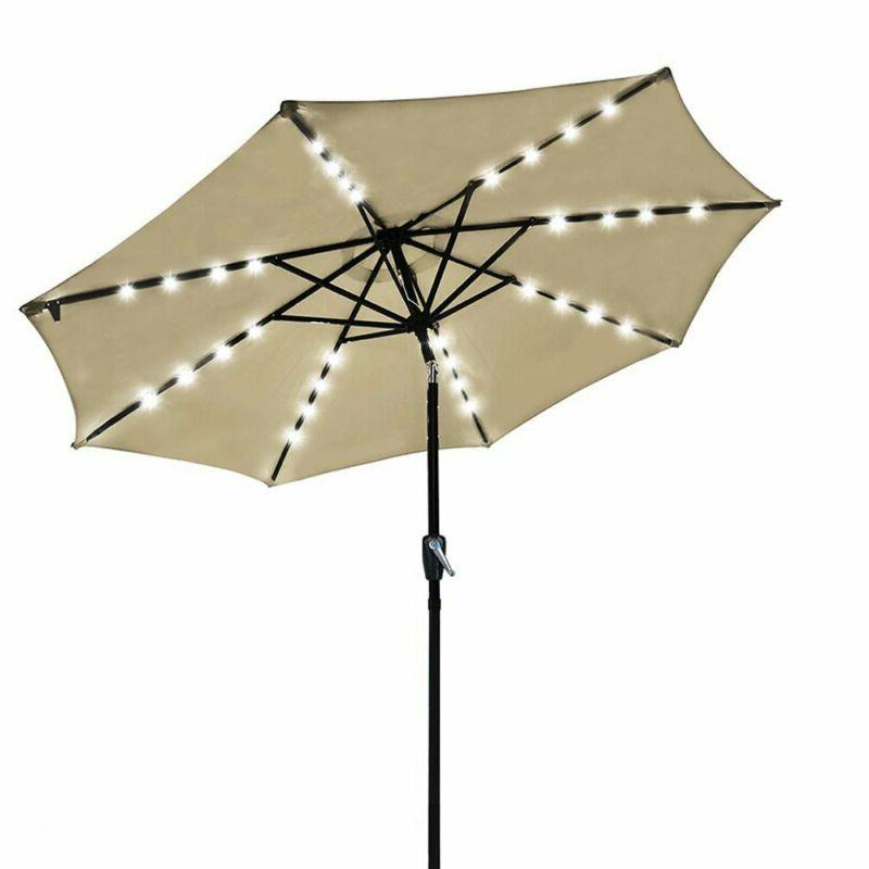 9 outdoor solar powered led umbrella 8