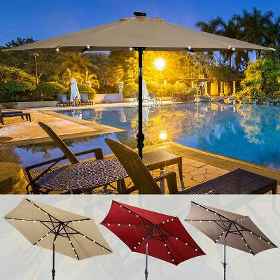 9ft patio solar umbrella led patio market