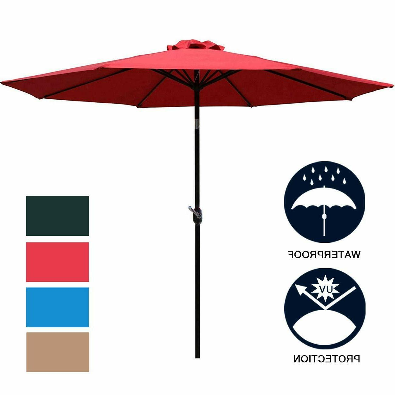 Sunnyglade 9FT 8 Sturdy Outdoor Table Umbrella
