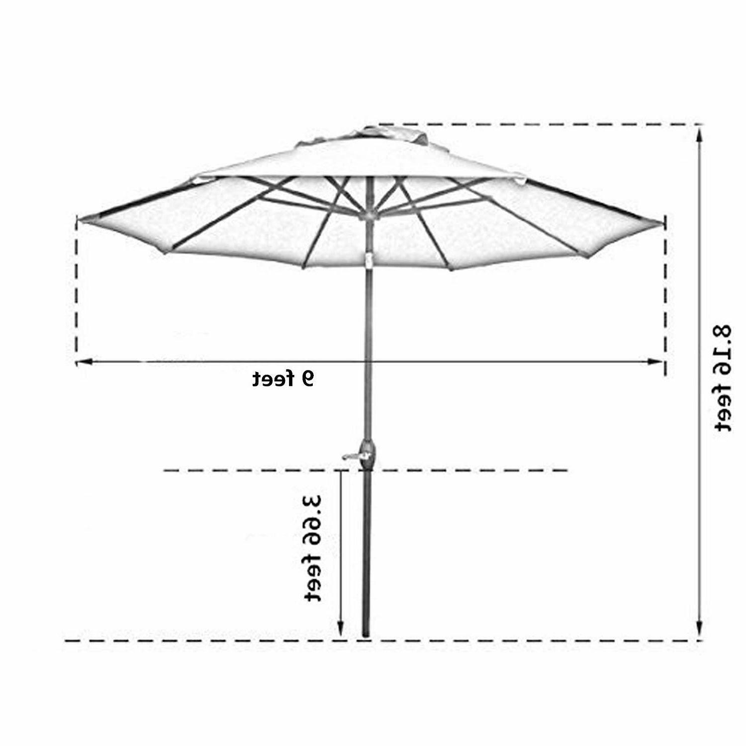Sunnyglade 8 Ribs Outdoor Umbrella