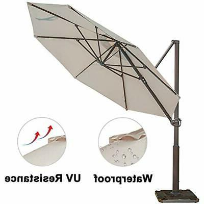 Abba Patio Umbrellas Cantilever With Cross Base,